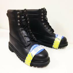 """Brand New Mens Steel Toe Work Boots 8"""" Genuine Leather Oil R"""