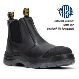 Men's Steel Toe Work Boots Oil Puncture resistant Waterproof