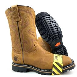 MEN'S STEEL TOE WORK BOOTS SAFETY PULL ON OIL RESISTANT GENU