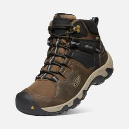 KEEN Men's Steens Waterproof Leather Boots Canteen Size 10