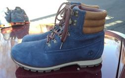 Men's sz 13 timberland premium blue suede classic boots - NE