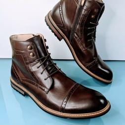 BRUNO MARC New York Men's Sz 14 Bergen Brown Leather Cap Toe