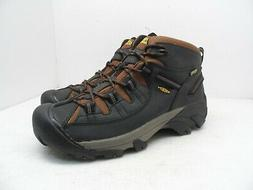 KEEN Men's Targhee II Mid WP Hiking Boot,Chestnut/Bossa Nova