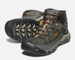 KEEN Men's Targhee III Mid Waterproof Hiking Boots Black/Oli