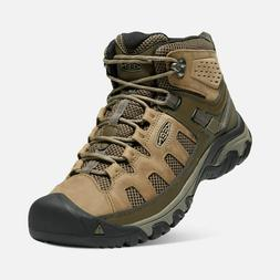 KEEN Men's Targhee Vent Mid Hiking Boots Olivia/Cord Size 10
