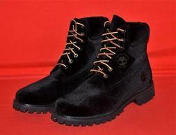 Men's Timberland x Off White Black Velvet Boots Size 9