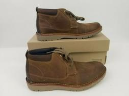 Clarks Men's Vargo Mid Ankle Boots Dark Tan Leather US Size