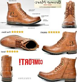 Men's Vintage Design Stylish Military Motorcycle Combat Boot