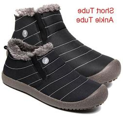 Men's Warm Waterproof Boots Outdoor Anti-Skid Ankle Shoes Sl