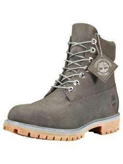 MEN'S TIMBERLAND WATERPROOF 6'' PREMIUM BOOTS GRAY ALL SIZES