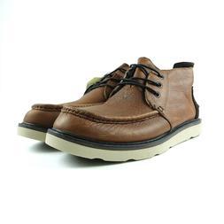 TOMS Men's Waterproof Brown Leather Men's Chukka Boots Size