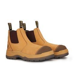 ROCKROOSTER Men's Work Boots Water Resistant Steel Toe Pull