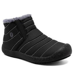 Men's Winter Snow Boots Fleece Lined Warm Booties Outdoor No