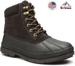 NORTIV 8 Men's Winter Snow Boots Work Boots Insulated Waterp