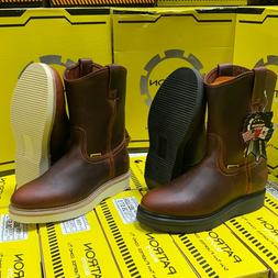 MEN'S WORK BOOTS GENUINE LEATHER BROWN POLYURETHANE CLEAR SO