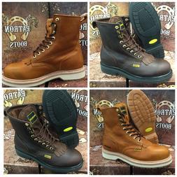 men s work boots round toe genuine