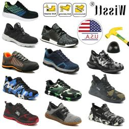 Men's Work Boots Safety Shoes Steel Toe Sneakers Lightweight
