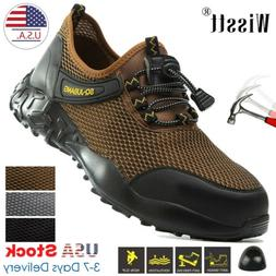 Men's Work Safety Mesh Shoes Steel Toe Boots Indestructible