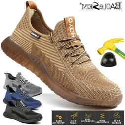 Men's Work Safety Shoes Steel Toe Bulletproof Boots Indestru