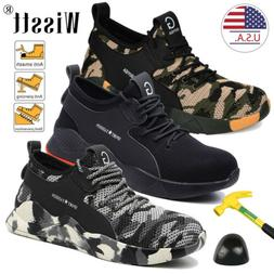 Men's Work Safety Steel Toe Cap Boots Industrial Constructio