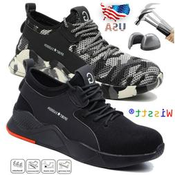 Men's Work Safety Steel Toes Cap Boots Industrial Constructi