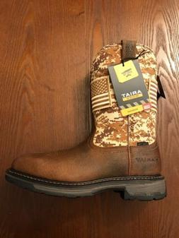 Ariat Men's Workhog Patriot Square Steel Toe Work Boots 1002