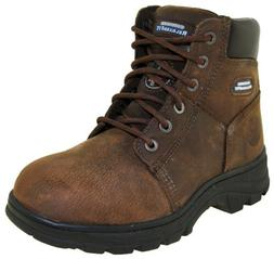 Skechers Men's Workshire Steel Toe Work Boots Brown Style 77