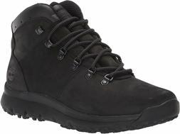 Men's Timberland World Hiker Mid Boots Jet Black Blackout Nu