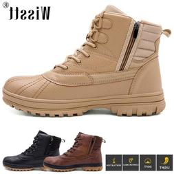 Men's Zip Military Tactical Boots Hiking Combat Shoes Army W