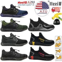 Men Safety Shoes Steel Toe Work Boots Indestructible Lightwe