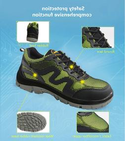 Men Safety Shoes Summer Breathable Light Steel Toe Sole Work