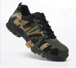 Men Safety Shoes Summer Breathable Steel Toe Work Boots Hiki