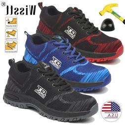 Men Safety Work Indestructible Shoes Steel Toe Bulletproof M