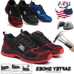 men safety work shoes steel toe boots