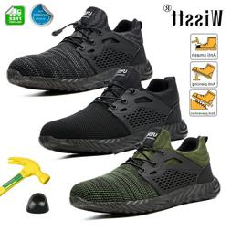 Men Safety Work Shoes Steel Toe TPR Boots Industrial Constru