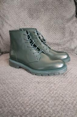 Men Calvin Klein Shoes Fenton Ankle Boots Green Size 9.5