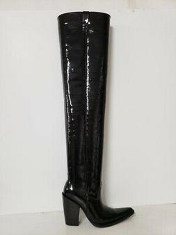 Men size 10 US patent leather 35 inches tall boots 5 inches