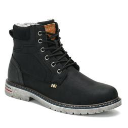 Men Women Snow Boots Anti-skid Warm Fur-Lined Lace Up Shoes