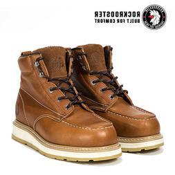 ROCKROOSTER Men Work Boots Composite Toe Puncture Resistant
