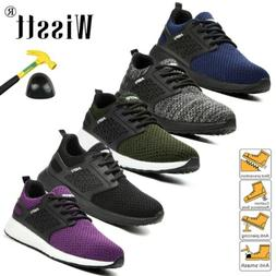Men Work Boots Safety Shoes Steel Toe Work Industrial Constr