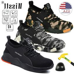 Men Work Boots Safety Shoes Steel Toe Cap Sneakers Lightweig