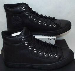 Mens 12 Converse CTAS Boot PC Hi Triple Black Leather Shoes