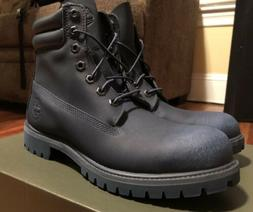 "Timberland Mens 6"" Inch Double Collared TecTuff Navy Boots T"