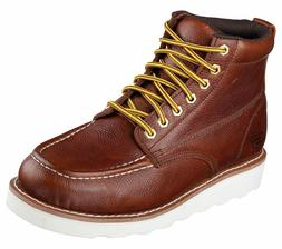 Skechers Mens 77092 Work Relaxed Fit Pettus Work Boots Red/B