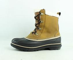 Crocs Mens Allcast Ii Boot Wheat/Black Snow Boots Size 12