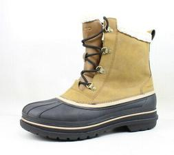 Crocs Mens Allcast Ii Wheat/Black Snow Boots Size 13