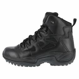 Reebok Mens Black Leather Work Boots Rapid Response Stealth