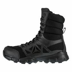 Reebok Mens Black Mesh Work Boots Dauntless Zip Hiker 8in