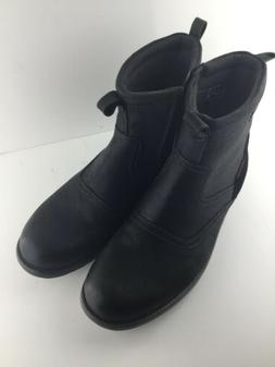 mens boots black leather waterproof size 11