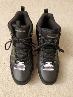 Mens Boots By Skechers Air-Cooled Memory Foam Waterproof Siz